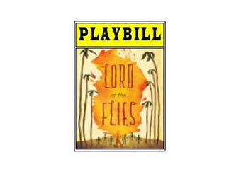 Theater / Show Charm - Playbill Play Bill - Lord of the Flies