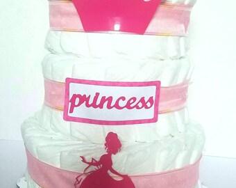 Princess three tier Pampers Diaper Cake