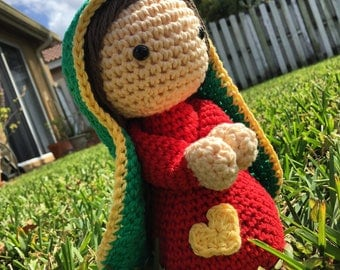 Our lady of Guadalupe doll, Amigurumi Handmade Crochet doll