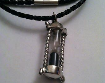 Mini hour glass pendant necklace, hour glass pendant, necklaces