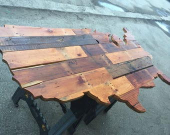 USA Map / Reclaimed Wood United States of America Map / Wood Map of the United States / Map of America
