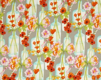 Posie fabric by the yard by Michael Miller - Posie boquet fabric - flower fabric - floral fabric - flower vase fabric - #17064