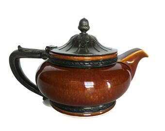 The Biltmore Estate antique Lenox teapot Gorham silver plate lid 1913