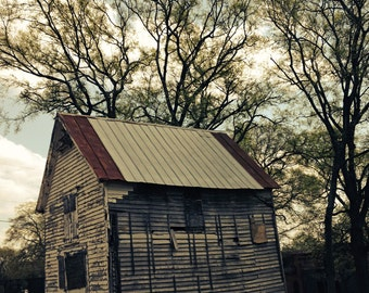 "SLANTED BARN (photograph) 11"" x 14"" FREE Shipping!"