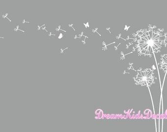 Dandelion Wall Decal, Dandelion Wall Art, Dandelion Wall Sticker, Flower  Decor With Butterfly Part 81