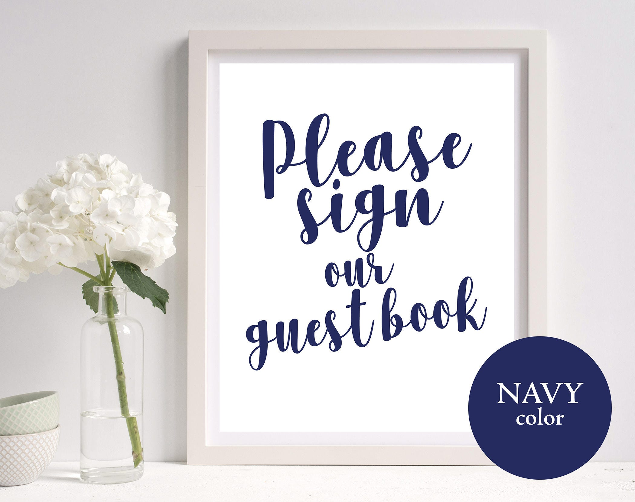 guest book sign template guest book sign navy wedding guest book sign