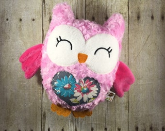 Soft Owl Plush - Unique Stuffed Owl - Owl Softie