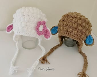 Little Lamb / baby sheep beanie / sheep hat