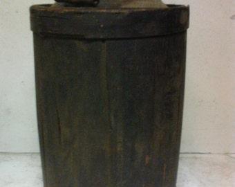 Wooden covered  kerosene can