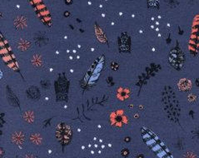 Dream Owl in Night- Cozy-Brushed Cotton Twill- Sarah Watts for Cotton and Steel