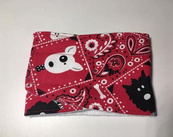 Male Dog Diapers / Belly band / male wrap / Waterproof / RED BANDANA PRINT