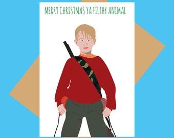 Christmas card - Home Alone - Merry Christmas ya filthy animal