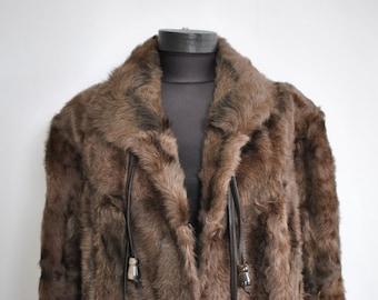 Vintage LAMB FUR full length coat...........(213)