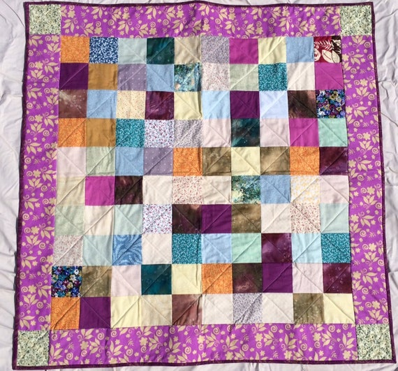 Quilt - Wall hanging, baby quilt, lap quilt, blanket - Passage Scraps