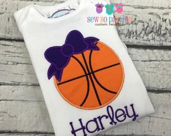 Baby girl basketball outfit - Baby girl basketball shirt - personalized outfit - basketball shirt - baby girl clothes - girl basketball