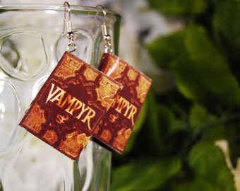 Vampyr Book Earrings