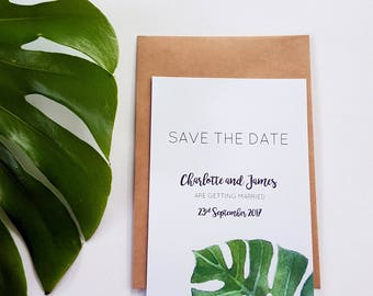 Monstera Save The Date card