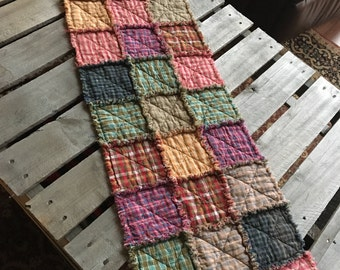 No. 54 Homespun Rag Tablerunner