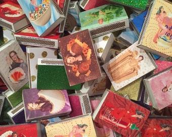 TOS glitter matchboxes