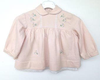 Dress baby wool (18-24 months) Vintage 60's Made in Italy