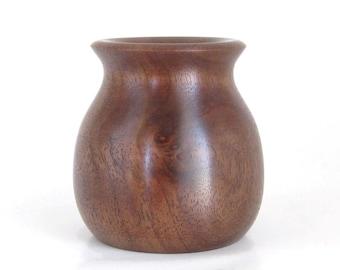 Flower Pot Handcrafted in Walnut
