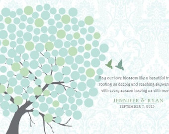 Wedding Guestbook Alternative Tree Circles 20X30 Inches, More sizes available, 150 Signature Guestbook,  Guestbook  for Wedding