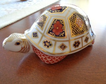 Royal Crown Derby Hand-Painted Turtle