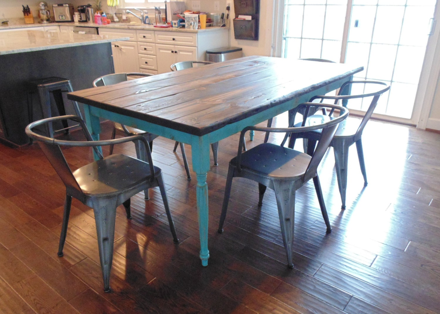 Kitchen Table Reclaimed Wood Harvest Table Etsy