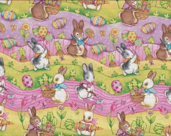 Easter Trail, 100% Cotton Fabric Sold by Half Yard (22389)