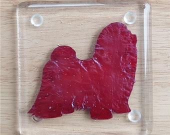 "Shih Tsu Kilnformed Glass Coasters- (Set of 4) 4""x4"""