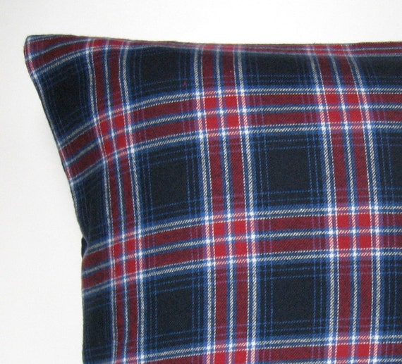 Items similar to Plaid Flannel Pillow Cover, Throw Pillow, Flannel, Check, Plaid, Winter Pillow ...
