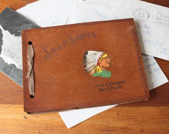 Vintage Grand Canyon National Park Scrapbook, Snapshsot Memory Books, Travel Scrapbooks, Memory Books