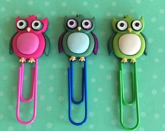 Owl bookmarks // owl planner clips // owl planner clip // owl filofax clips // planner clips // filofax clips // stylish planner clips