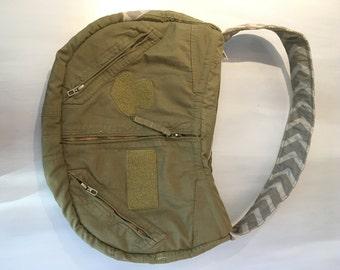 Bennet Flightsuit Bag- Gray Chevron