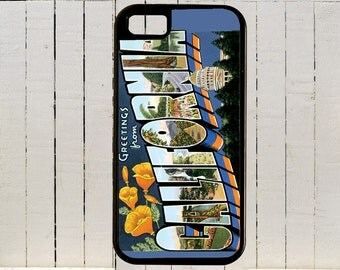 California Postcard With Everones Favorite Places For iPhone Case 4, 4s, 5, 5C, 6, 6+ and Samsung Galaxys