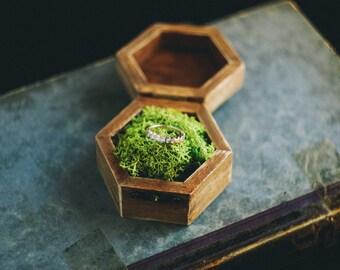 Engagement Ring Box, Wedding Ring Box, Rustic Ring Box, Floral Ring Bearer, Ring Holder, Proposal Ring Box, Bohemian Ring Box, Vintage Rose