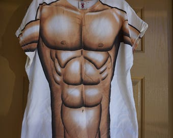 tshirt bathing suit cover up mens womens shirt swim suit  medium large  one size fits most muscle ripped