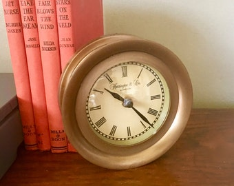 Vintage/Reproduction Ship Clock, Made In India, Battery Operated, Wall Clock, Harrington and Company, London
