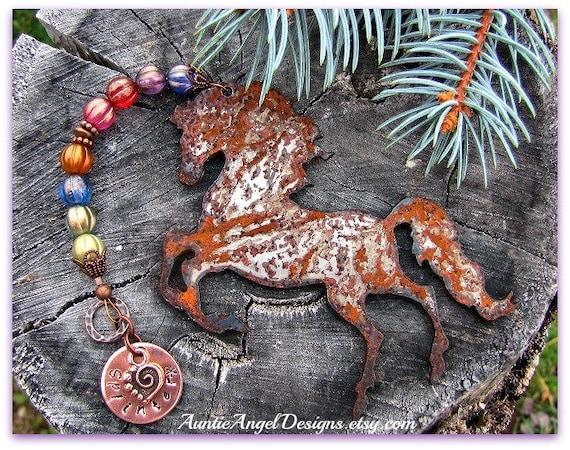 Rainbow Bridge Horse Ornament, Personalized Horse Sympathy Gift, Custom Horse Memorial, Horse at Rainbow Bridge, Death of Horse, Horse Loss