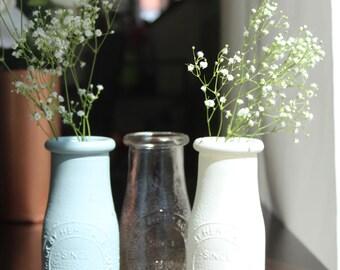 Miniature Glass Milk Bottle