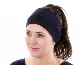 Workout headband ,Yoga headband , woman headband  ,ear warmer,navy