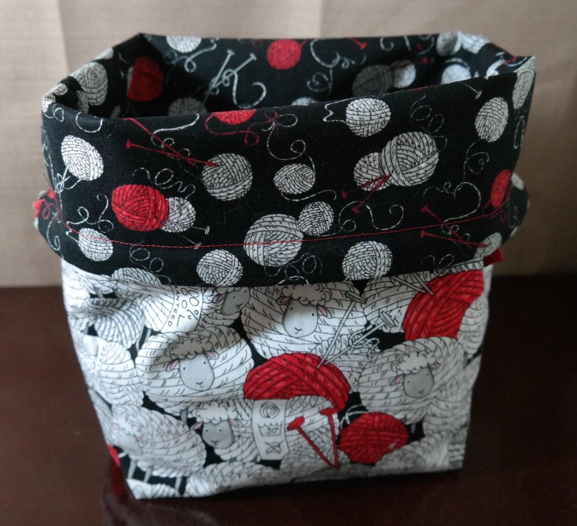 Sheep Medium Drawstring Project bag