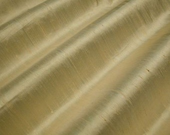 """Sesame - Pure Silk Dupioni Fabric - Handwoven - By the Yard - 54"""" Wide"""