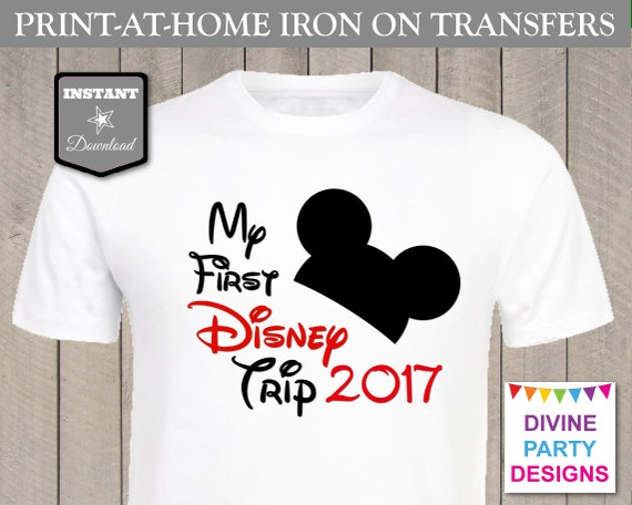 Instant download print at home mouse my first disney trip for How to print in t shirt at home
