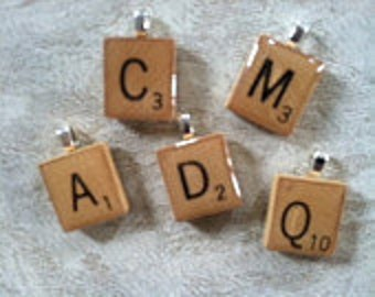 Scrabble tile pendant