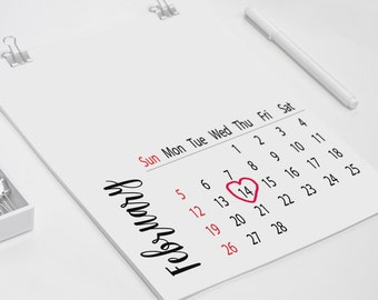 DIY Calendar, Minimal Calendar, Blank Calendar, Calendar 2017 pdf, Modern Calendar, Monthly Calendar, 2017 Wall Calendar Printable