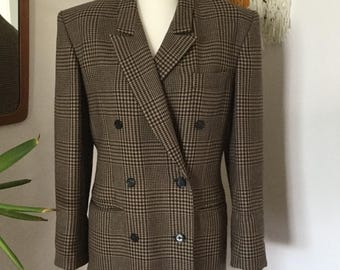 Vintage 1980's Checked Jacket