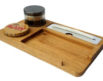 Rolling Tray. Made from Oak in the UK. For All you Smoking paraphernalia