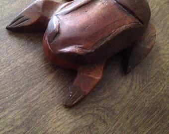 Wood frog box