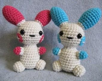 Chibi Plusle & Minun Pokemon Pattern